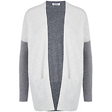 Buy Farhi by Nicole Farhi Cashmere Cardigan, Grey/Ecru Online at johnlewis.com