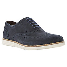 Buy Dune Bayside Suede Brogue Shoes, Navy Online at johnlewis.com