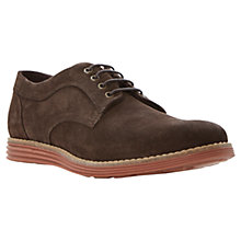 Buy Dune Baycliff Suede Derby Shoes, Dark Brown Online at johnlewis.com