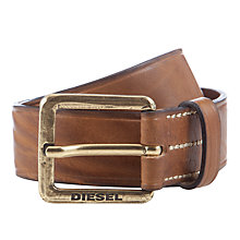 Buy Diesel Batrei Stitch Leather Belt Online at johnlewis.com