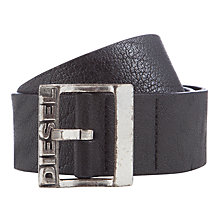Buy Diesel Bitarello Leather Belt, Black Online at johnlewis.com