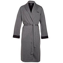 Buy BOSS Shawl Collar Bath Robe, Charcoal Online at johnlewis.com