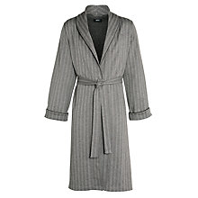 Buy BOSS Shawl Collar Herringbone Robe, Grey Online at johnlewis.com