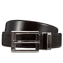 Buy BOSS Ennaro Leather Belt, Black Online at johnlewis.com