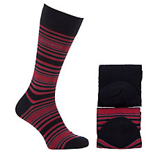 Buy BOSS Stripe Socks, Pack of 2 Online at johnlewis.com