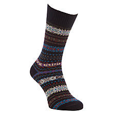 Buy Barbour Boyd Lambswool Socks, Navy Online at johnlewis.com