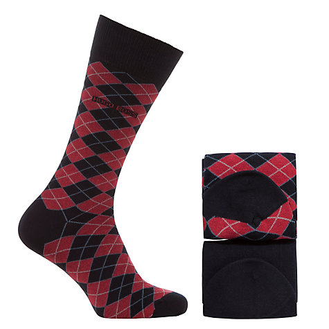 Buy BOSS Argyle Socks, Pack Of 2 Online at johnlewis.com