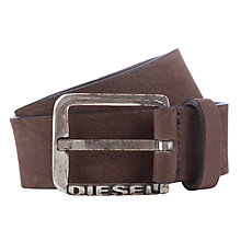 Buy Diesel Bocoly Leather Belt, Dark Brown Online at johnlewis.com