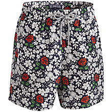 Buy Vilebrequin Floral Swimming Shorts, White Online at johnlewis.com