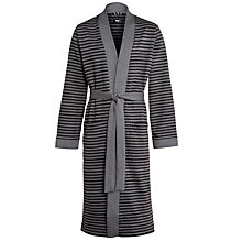 Buy BOSS Stripe Kimono Robe, Charcoal Online at johnlewis.com
