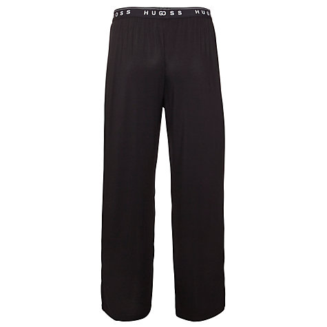 Buy BOSS Stretch Modal Lounge Pants, Black Online at johnlewis.com