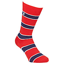 Buy Barbour Hexham Cotton Socks, Red/Navy Online at johnlewis.com