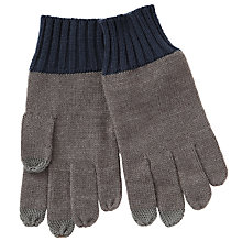 Buy Kin by John Lewis Colour Block Gloves, Grey/Navy Online at johnlewis.com