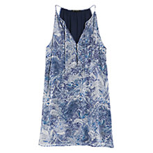 Buy Mango Printed Chiffon Dress, Dark Blue Online at johnlewis.com