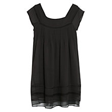 Buy Mango Plumeti Hem Dress, Dark Grey Online at johnlewis.com