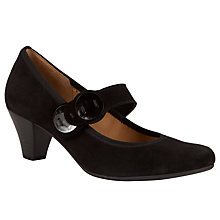 Buy Gabor Caprice Suede Court Shoes, Black Online at johnlewis.com