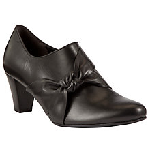 Buy Gabor Agnes Leather Knot Trim Shoes, Black Online at johnlewis.com