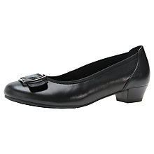 Buy Gabor Circus Leather Courts Shoes, Black Online at johnlewis.com