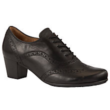 Buy Gabor Denver Leather Court Shoes, Black Online at johnlewis.com