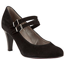 Buy Gabor Barrington Double Strap Court Shoes, Black Online at johnlewis.com