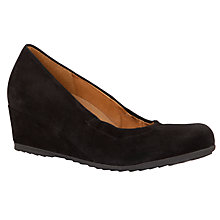 Buy Gabor Ester Low Wedge Court Shoes, Black Online at johnlewis.com