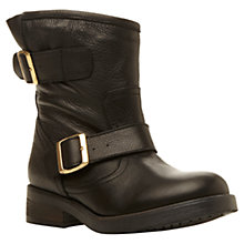 Buy Steve Madden Msfresh Leather Calf Lenght Boots, Black Online at johnlewis.com