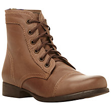 Buy Steve Madden Tundra Leather Boots, Stone Online at johnlewis.com