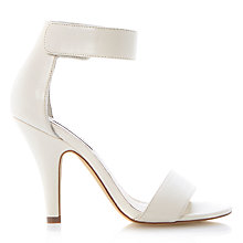 Buy Steve Madden Tassha Heeled Sandals, White Online at johnlewis.com