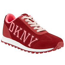 Buy DKNY Jete Logo Leather Varsity Trainers Online at johnlewis.com