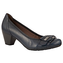 Buy Gabor Great Leather Court Shoes, Ocean Online at johnlewis.com
