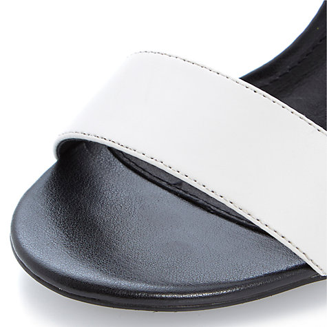 Buy Steve Madden Tassha Leather Heeled Sandals, Black/White Online at johnlewis.com