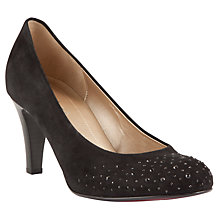 Buy Gabor Roxburgh Diamante Covered Court Shoes, Black Online at johnlewis.com