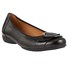 Buy Gabor Dandelion Buckle Detail Leather Shoes, Black Online at johnlewis.com