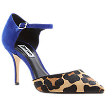 Buy Dune Claudia Court Shoes, Leopard Pony Online at johnlewis.com