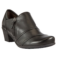 Buy Gabor Roost Leather Court Shoes, Black Online at johnlewis.com