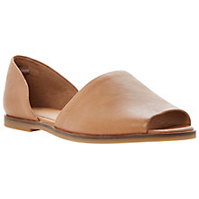 Buy Bertie Jambi High Vamp Peeptoe Leather Flat Sandals Online at johnlewis.com
