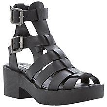 Buy Steve Madden Schoolz Stacked Gladiator Sandals, Black Online at johnlewis.com