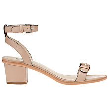 Buy Whistles Bonnie Block Heel Leather Sandals, Nude Online at johnlewis.com