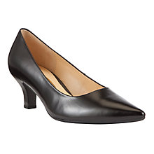 Buy Gabor Nairn Classic Pointed Leather Court Shoes, Black Online at johnlewis.com