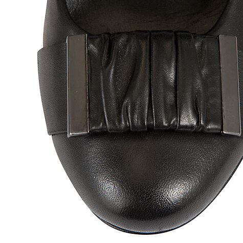 Buy Gabor Parkes Leather Court Shoes, Black Online at johnlewis.com