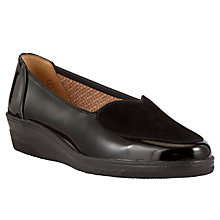 Buy Gabor Blanche Patent Pumps, Black Online at johnlewis.com