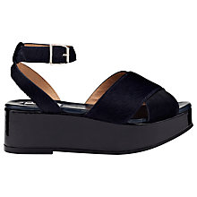 Buy Whistles Brooke Crossover Flatform Sandals Online at johnlewis.com