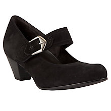 Buy Gabor Vermont Large Buckle Strap Court Shoes, Black Online at johnlewis.com