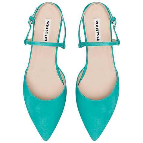 Buy Whistles Lorna Flat Leather Slingback Sandals Online at johnlewis.com