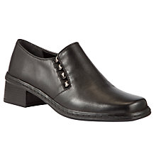 Buy Gabor Hertha Leather Shoe Boots, Black Online at johnlewis.com