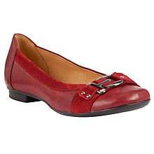 Buy Gabor Montana Buckle Detail Leather Pumps, Red Online at johnlewis.com
