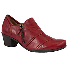 Buy Gabor Roost Leather Court Shoes, Red Online at johnlewis.com