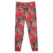 Buy Mango Palm Print Baggy Trousers, Bright Red Online at johnlewis.com