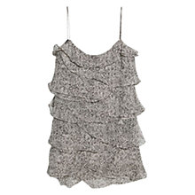 Buy Mango Ruffled Printed Dress, Dark Grey Online at johnlewis.com