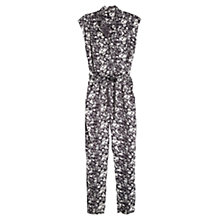 Buy Mango Floral Print Jumpsuit, Natural White Online at johnlewis.com